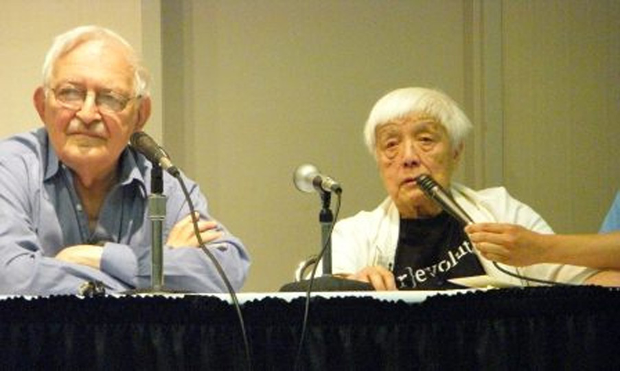 The panel discussion with Grace Lee Boggs and Immanuel Wallerstein. 2010 Urban Habitat
